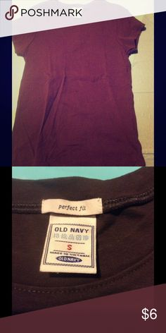 Black crew neck perfect tee Black old navy plain perfect fit tee shirt Old Navy Tops Tees - Short Sleeve