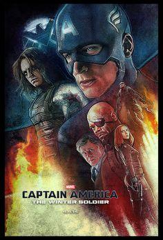 captain america the winter soldier fantastic illustrated poster | ... Fantastic Illustrated 'Captain America: The Winter Soldier' Poster