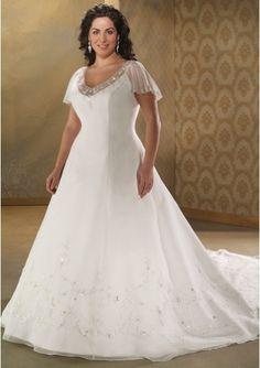 silver full figured wedding dresses | Wedding 05 | Pinterest | Full ...