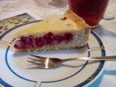 Фото к рецепту: Заливной пирог с малиной.