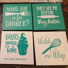 Made these cute signs today They See Me Rollin, 8th Sign, General Finishes, Bakery, Signs, Cute, Vintage, Instagram, Shop Signs