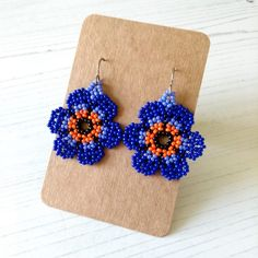 Purple Daisy, Bright Purple, Craft House, Orange Earrings, Message Card, Large Flowers, Main Colors, Home Crafts, Flower Power