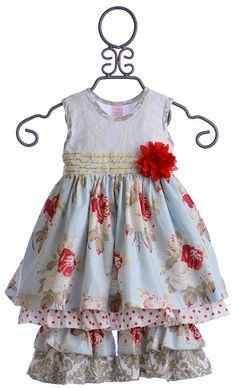 Giggle Moon Madison Dress Set in Wedding Bells $76.00