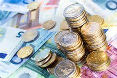 Euro peniaze komíny a zmenky voľnú