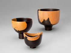 Bob Stocksdale - Footed Bowls, Mpingo Wood