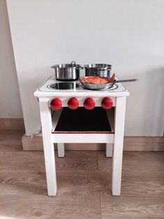 mommo design: IKEA HACKS - mini kitchen from IKEA stool