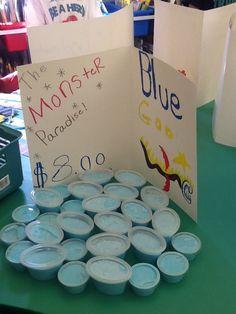 Classroom Market Day Ideas! Blue goo!