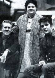 Elvis with his Mom and Dad
