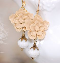 Latte Blossoms by crushjewels on Etsy, $26.00