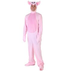 Adult Pink Cute Pig Costume Animae Animal Clothes For Men Man's Cosplay Costumes Winter Halloween Animal Clothes //Price: $89.95 & FREE Shipping //     #hashtag3