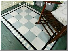 """Painted Porch """"rug"""""""