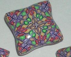 Polymer Clay Beads  Kaleidoscope Pillows by WildflowerWonders, $6.00