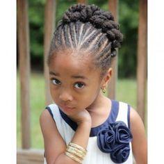 Coiffure afro enfant tresses collées torsades