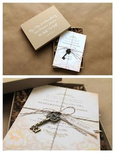 Wedding Invitations DIY project that is simple and sweet. Click through for details.
