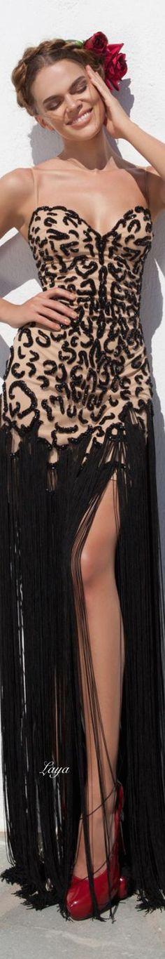 I like the fringe idea, but just not on this dress Tarik Ediz - Spring 2015 Couture