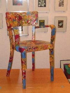 What a great way to revamp a chair!