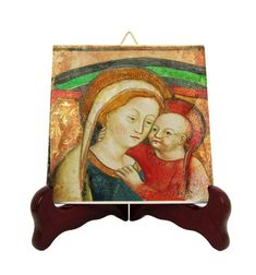 Items similar to Our Lady of Good Counsel of Genazzano - devotional icon on tile - catholic gifts - religious - Our Lady of Genazzano - Virgin of Genazzano on Etsy Catholic Gifts, Catholic Prayers, Catholic Art, Religious Gifts, Religious Icons, Saint Philomena, Saint Quotes, Tile Murals, Holy Mary