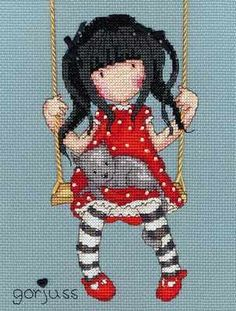 Craft Boutique - Gorjuss- Ruby Cross Stitch Kit from Bothy Threads Cross Stitch Love, Counted Cross Stitch Kits, Cross Stitch Charts, Cross Stitch Designs, Cross Stitch Patterns, Cross Stitching, Cross Stitch Embroidery, Embroidery Patterns, Bothy Threads