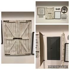 How to hide an electrical panel in an odd place in your home. Basement Makeover, Basement Renovations, Home Renovation, Home Remodeling, Electric Panel Cover, Electric Box, Breaker Box, Laundry Room Remodel, Basement Inspiration