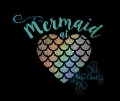 Custom Mermaid At Heart Vinyl Decal For Yeti Cup Water Bottle - Mermaid custom vinyl decals for car