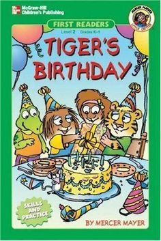 Tiger's Birthday Mayer Mercer Paperback #Affilink Mercer Mayer Books, Wiggles Birthday, Author Studies, Early Readers, Little Critter, Christmas Mom, Kids Reading, Book Worms, New Books