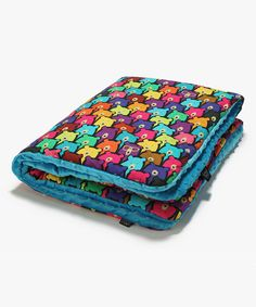 Love this La Millou 32'' x 40'' Turquoise Jelly Bears Filled Receiving Blanket by La Millou on #zulily! #zulilyfinds