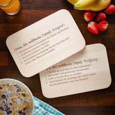 Frühstücksbrettchen Brettchen Opas machen die Welt schöner Opa Neu