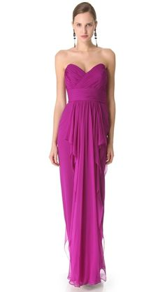 ~♥♥♥~NOTE: Click IMAGE for 360 gif~♥♥♥~  Marchesa Notte Strapless Column Dress