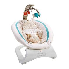 Fisher Deluxe Bouncer Soothing Savanna for sale online Baby Bouncer Seat, Best Baby Bouncer, Baby Car Seats, Baby Boy Bouncers, Colic Baby, Baby Rocker, Go To Walmart, Baby Swings, Fisher Price