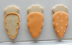 Ostern Platzchen Verziert-Polka Dot Carrot Cookies – The Sweet Adventures of Sugar Belle Easter Cupcakes, Easter Cookies, Birthday Cookies, Baby Cookies, Heart Cookies, Valentine Cookies, Christmas Cookies, Easter Desserts, Valentines