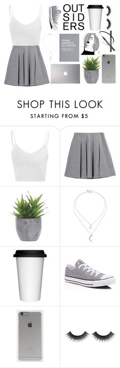 """50 Shades of Grey"" by bellaallmey ❤ liked on Polyvore featuring Glamorous, Samsung, Lux-Art Silks, Miss Selfridge, Sagaform, Converse, Incase, Summer, white and grey"