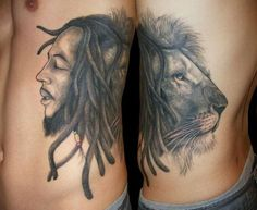 Bob and the lion sharing dreads.. Nice