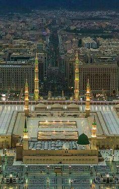 madina tul munawara masjid al nabawi Masjid Haram, Al Masjid An Nabawi, Mecca Masjid, Islamic Images, Islamic Pictures, Beautiful World, Beautiful Places, Medina Mosque, Les Religions
