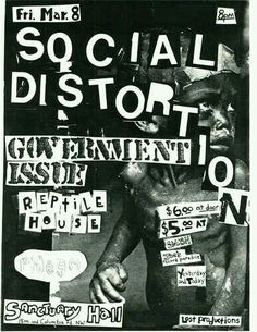 SOCIAL DISTORTION, GOVERNMENT ISSUE and REPTILE HOUSE.
