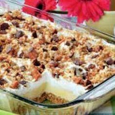 Candy Bar Freezer Dessert
