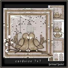 Cardtopper 7x7 with inlet grungy love 224 on Craftsuprint - View Now!
