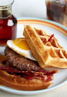 Alternative to burger buns: Use a waffle! Get the recipe now: Alternative to burger buns: http://blog.freshdirect.com/burger-bun-alternatives/