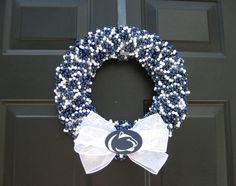 Penn State beaded door wreath. We Are Penn State!