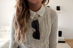 Image about girl in Mode by Prisca on We Heart It Runway Fashion, Girl Fashion, Fashion Tips, Fashion Trends, Cool Outfits, Casual Outfits, Ray Ban Sunglasses Sale, Sweater Layering, Tumblr Outfits