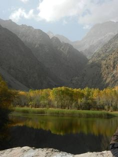 A small pond near Iskander Kul Lake in Tajikistan. Shortly after I took this photo, we went for a very cold swim!