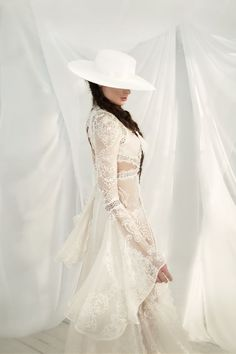 hen the bridal world's current girl-crush, one of the industry's leading boho dress designers and maybe even yours truly get on board with a trend… Ball Gown Dresses, Bridal Dresses, Bohemian Wedding Dresses, Wedding Gowns, Bridal Hat, The Dress, Bridal Collection, Marie, Victoria