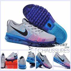 Nike Air Max 2014 | Meilleur Chaussures Running 03 Homme Grise/Bleu/Pourpre
