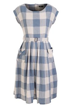 Elise Bijou Chequer Dress - Womens Knee Length Dresses at Birdsnest