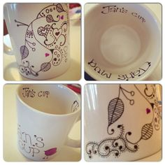I love the zen tangles on the sharpie mugs!  Cjj