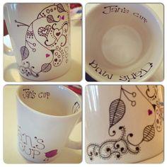 I love the zen tangles on the sharpie mugs!  Cjj