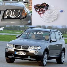 42.72$  Buy here - http://alilvd.shopchina.info/go.php?t=32715830768 - 4pcs Super bright red blue yellow white 3528 smd led angel eyes halo rings car styling for BMW E83 X3 2003-2010  #buyonline