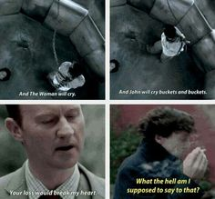 Didn't Sherlock think Mycroft would miss him?