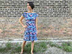 Anna Dress in Rifle Paper Co. Rayon – Sewing & Cocktails