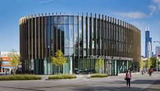 The Chinatown Branch of the Chicago Public Library serves as a new civic, educational, and social hub for Chicago's Chinatown neighborhood, providing a much-needed public gathering place geared toward inclusive community activities and driven by technology-based