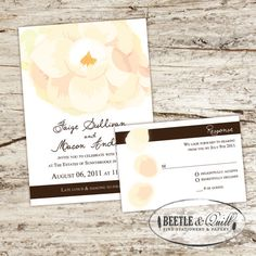 southern wedding invites